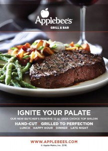 Applebee's Wood Fire Grill Promo