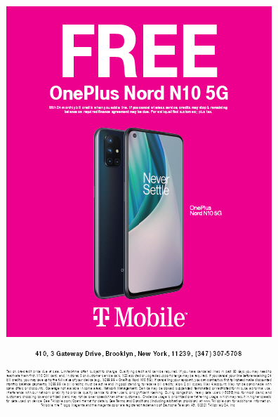 FREE ONEPLUS NORD AT T-MOBILE!