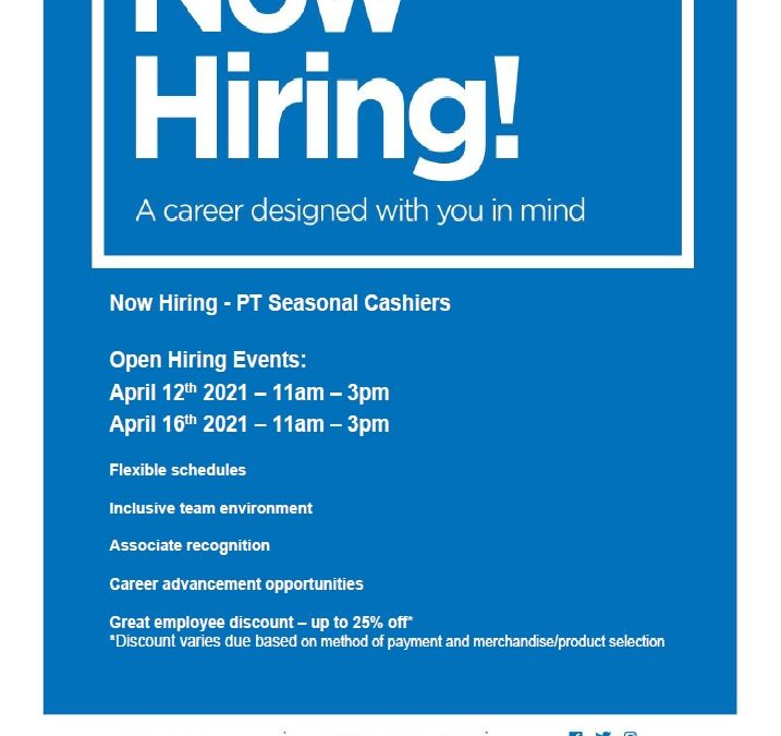 JCPENNEY IS HIRING!